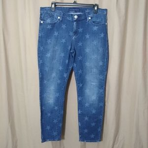 Rock & Republic star mid-rise cropped jeans